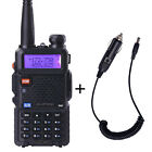 BaoFeng Black UV-5R Dual-Band ham 2 way radio 5R Walkie Talkie+Car Charger Cable