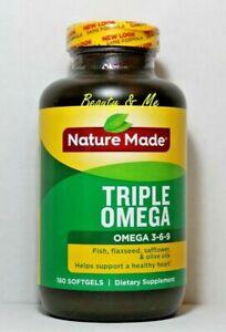 Nature Made Omega 3 6 9 Triple Omega 180 Softgels Fish Flaxseed