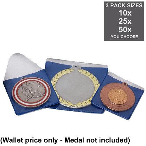 pack de 4 Tailles Médaille Porte-feuille pour s/'adapter 38 mm to 50 mm médailles en plastique faible coût