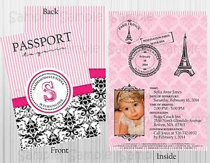 image is loading passport to paris personalized birthday baby bridal shower