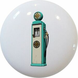 Image Is Loading Teal Vintage Gas Pump Retro Cabinet Drawer Pull