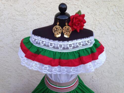 MEXICAN FIESTA CINCO DE MAYO,WEDDING DRESS OFF SHOULDER W//RUFFLE 2 PIECE