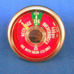 Details about 900027WB PARTS UNLIMITED GAGE 0-400 LBS PRESSURE PSI USE W/  HALON 1211 ONLY NOS