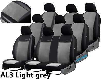 SKODA FABIA II 2007-2014 Measure Seat Covers Artificial Leather Black