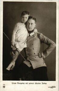CPA-AK-Kronprinz-mit-seinem-altesten-Sohn-GERMAN-ROYALTY-867869