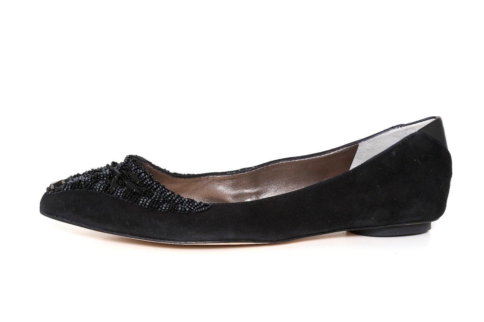 Sam Edelman para mujer mujer mujer negro con cuentas Cindi Ballet Zapatos sin Taco Sin 3106 tamaño 8M  envio rapido a ti