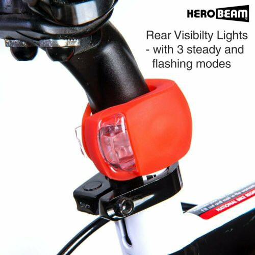 The Ultimate Lighting And Safety Pack Of Super Herobeam Bike Lights Double Set