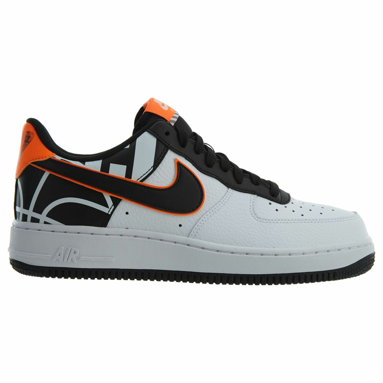 Nike Air Force 1 '07 LV8 Mens 823511-104 White Black Orange Low Shoes Comfortable Wild casual shoes