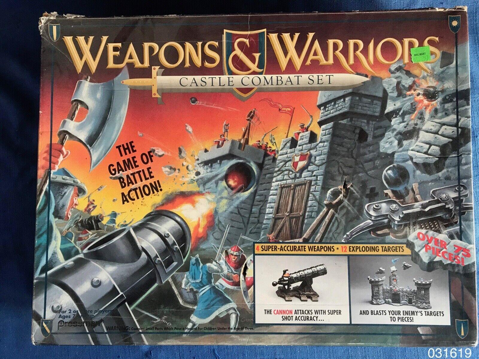 Vintage 1990s armas y guerreros Castillo de combate juego juego Pressman 1994 cm Sin Reserva