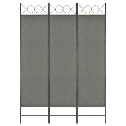 vidaXL Raumteiler 3-tlg Anthrazit Trennwand Paravent Umkleide Spanische Wand