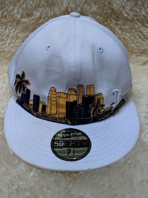 37d81048 NEW ERA 5950 59FIFTY MLB Los Angeles Dodgers Hat Skyline Edition Cap White  7 1/2