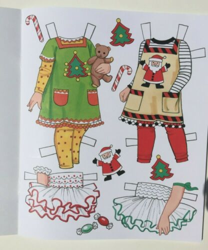 **DARLING!** CANDY CANE CHRISTMAS Paper Dolls By Eileen Rudisill Miller