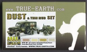 TRUE-EARTH-TESE04-DUST-amp-THIN-MUD-SET-NUOVO