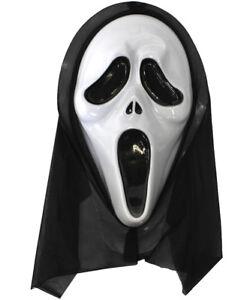 Détails sur Ghostface Mask Halloween Screamer accessoires costume robe  fantaisie Horreur Cosplay, afficher le titre d\u0027origine
