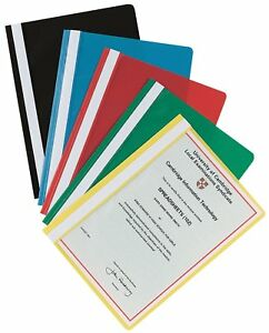 Pack of 5 Red A4 Report Project Document Files Folders 2 Prong