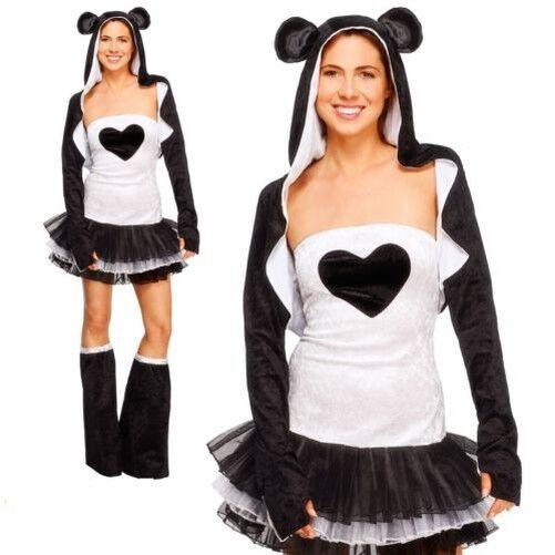 Panda Tütü Kostüm Damen Damen Damen Zoo Tier Sexy Kostüm UK 4-18 | Ruf zuerst  | Deutschland  | Spielen Sie auf der ganzen Welt und verhindern Sie, dass Ihre Kinder einsam sind  bcc8f2