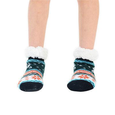 Kinder Hausschuhsocken 1 Paar Fairisle Rentier Multi Farben größe EU 9-12