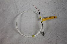 "RTD sensor, 1/4-20 thread, 2 wire, 1000ohm 40"" teflon leads with resistor"