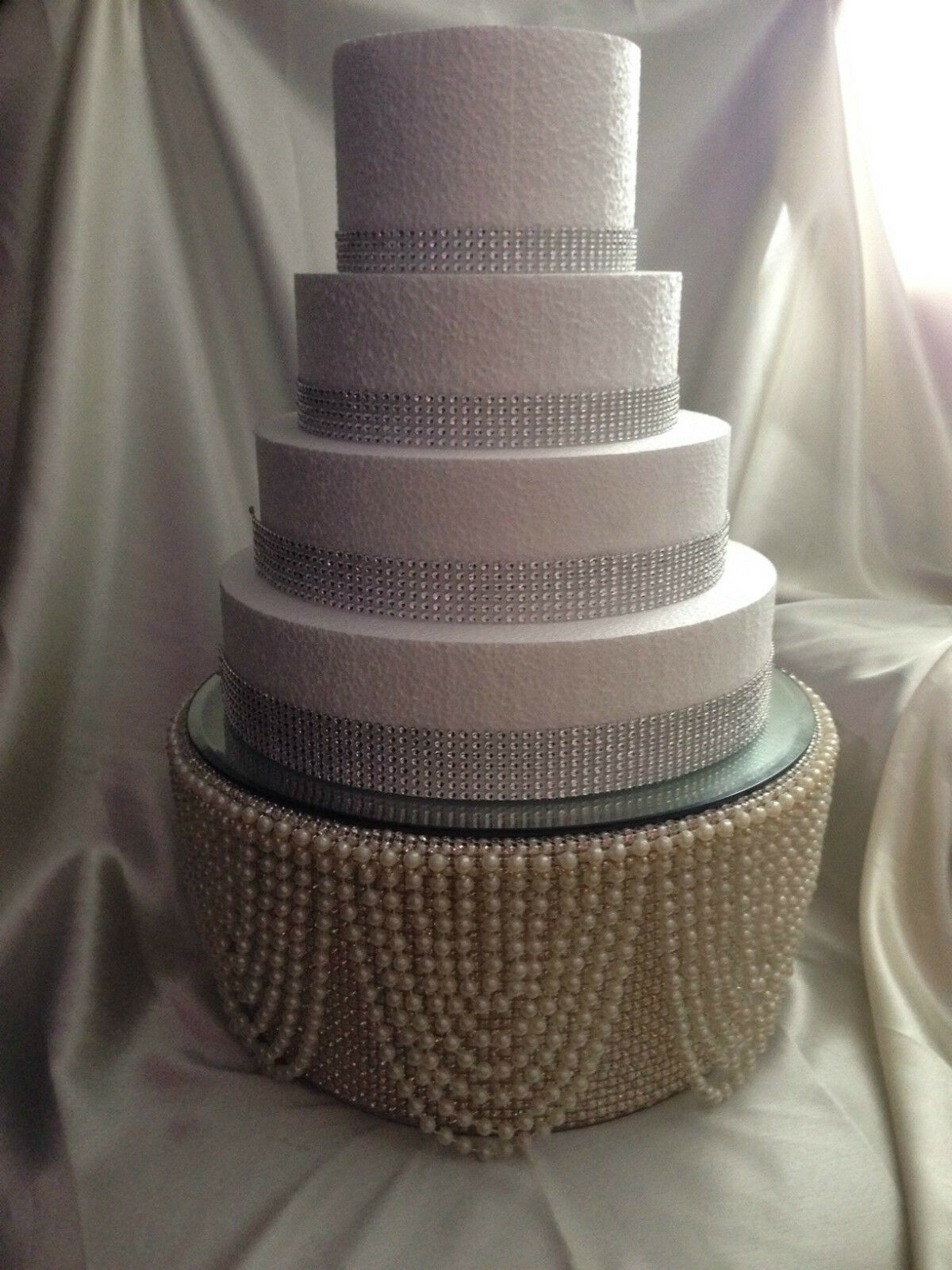 Perle & DiaFemmete DiaFemmete DiaFemmete strass finition haut de gâteau Stand pour Gâteau de Mariage Gatsby Style 715e12