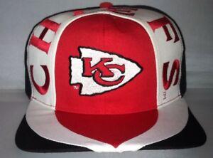 24c75fe8 Details about Vtg Kansas City Chiefs Snapback hat cap rare NWT 90s  Deadstock Alex Smith NFL og