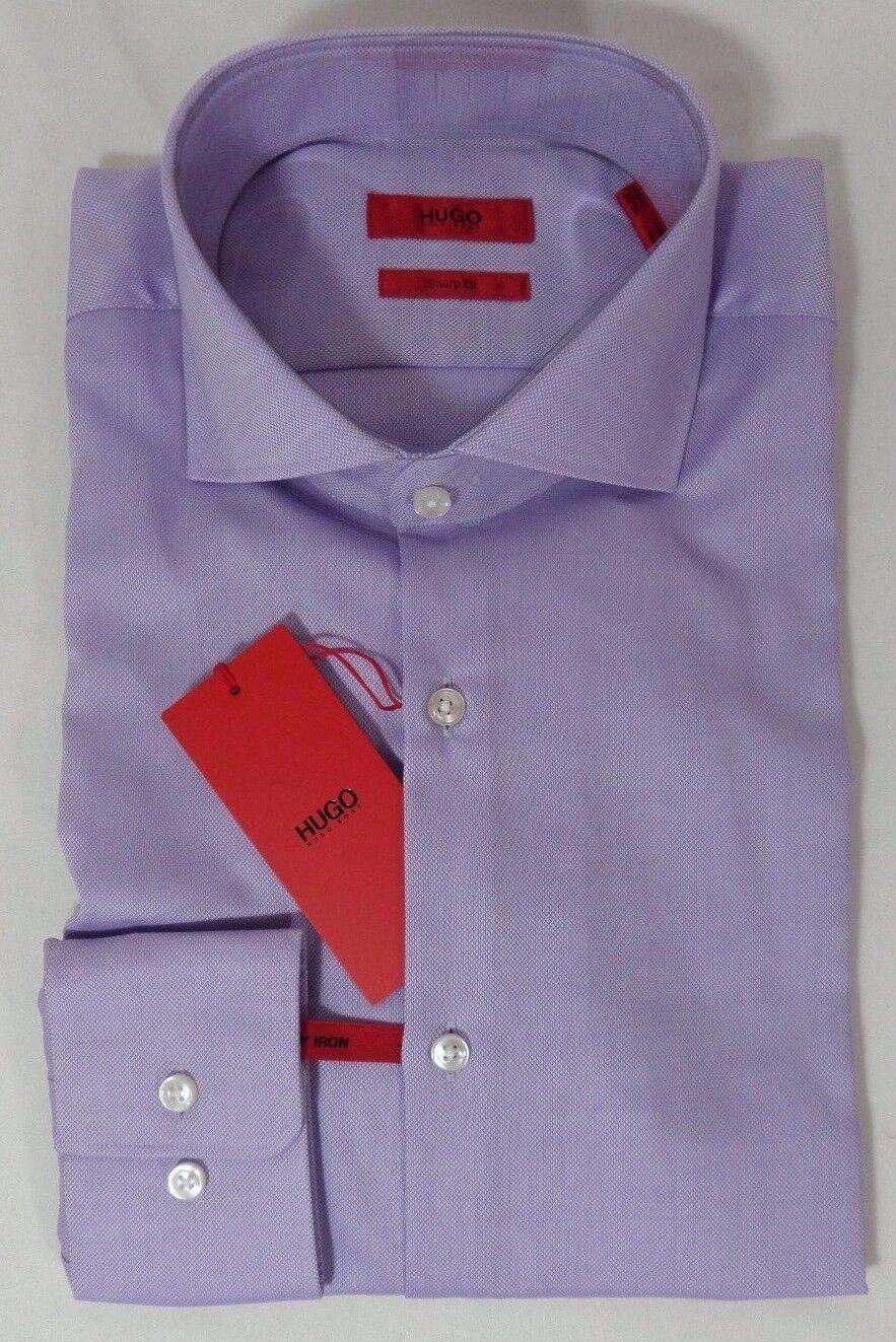 HUGO BOSS C-MELI US RED LABEL DRESS SHIRT SHARP FIT SPREAD COLLAR PURPLE - NWT