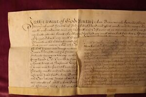 1677 VELLUM WILL DOCUMENT. ANN BURROWE. AMERSHAM, BUCKINGHAMSHIRE.