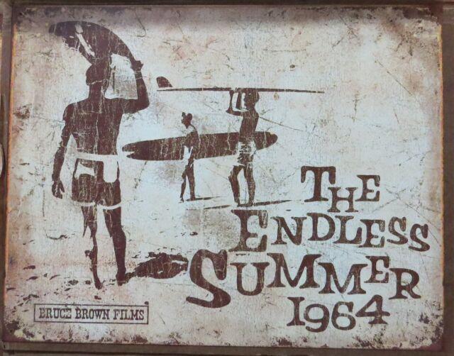 Endless Summer-Surfing-1964-40 x 32 cm-Retro Metal Tin Sign Man cave