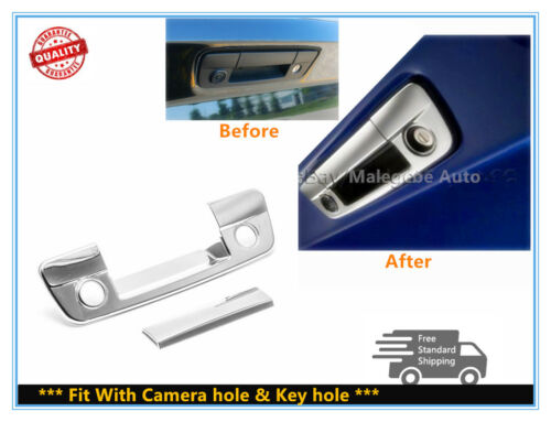 FOR 2009-2017 Dodge RAM 1500 Chrome Tailgate Handle cover W//Camera hole+Keyhole