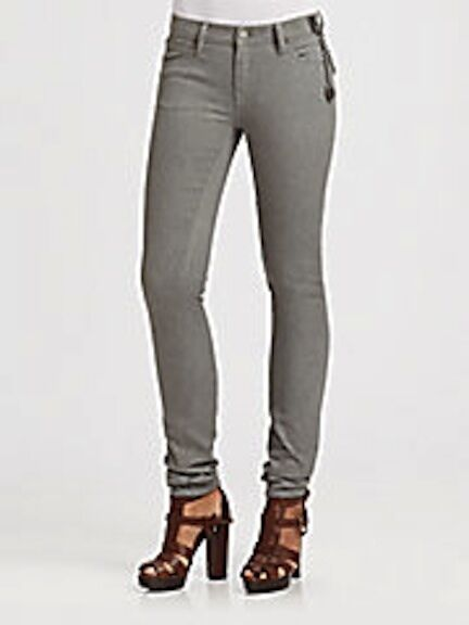 Ralph Lauren bluee Label Ana Skinny Jeans size 27 Grey  398 NWT