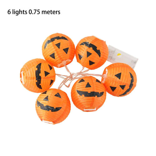 6//10LED Halloween Pumpkin Fairy Lights String Lamps Lantern Party Home DIY Decor