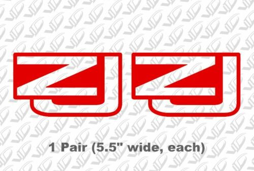 Jeep ZJ PAIR Red Vinyl Decal Sticker Off Road Grand Cherokee Trails 4x4 x2