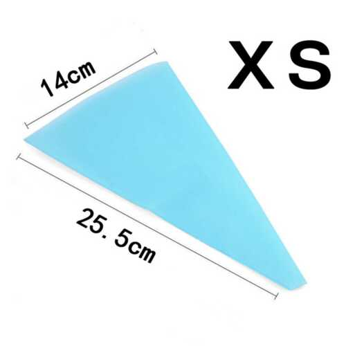 Silicone Reusable Icing Piping Cream Pastry Bag DIY Cake Decorating Tool 4 Size