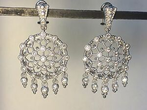 Judith ripka cubic zirconia sterling silver chandelier earrings with judith ripka cubic zirconia sterling silver chandelier earrings aloadofball Choice Image