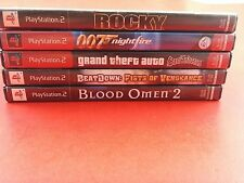 Bundle of 5 Playstation 2 Games - Rocky, 007, GTA SA, BeatDown, Blood Omen 2