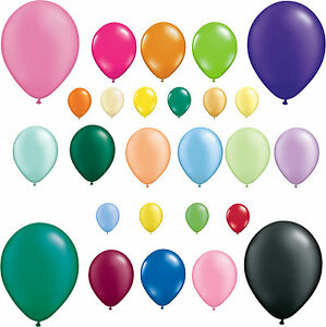 Packs-of-25-Qualatex-Latex-Balloons-Pearl-amp-Solid-Colours-All-Sizes-Free-Postage