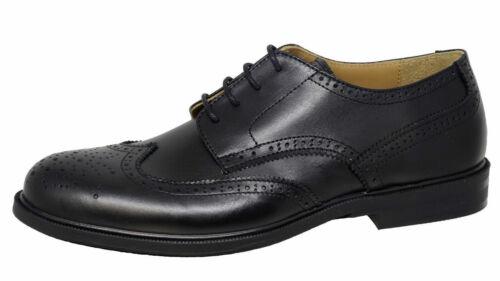 Gallucci 2051AM Leder Jungen Schuhe Budapester Schnürer schwarz Gr 37-41 Neu