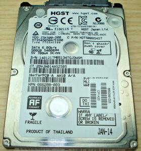 """HGST 500GB SATA Z5K500-500 Laptop 2.5/"""" 7mm Internal Hard Drive HTS545050A7E680"""
