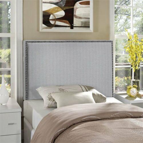 Modway Region Upholstered Twin Panel Headboard in Sky Gray