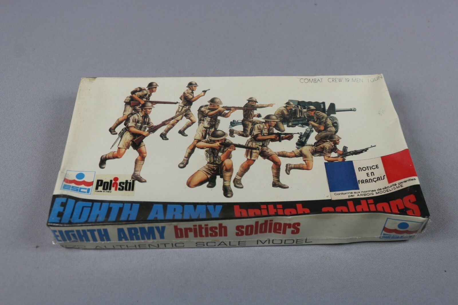 ZF1476 Esci 1 72 figurine militaire diorama 8019 Eighth Army British Soldiers