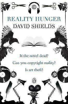 1 of 1 - Reality Hunger: A Manifesto, By Shields, David,in Used but Good condition