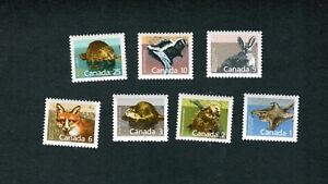 1988-TIMBRES-CANADA-STAMPS-1155-to-1161-7-MAMMAL-DEFINITIVES-coll3