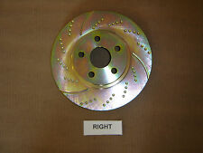 31325DS (REAR 2pcs) Performance Sport Dimpled Slotted Brake Disc Rotor