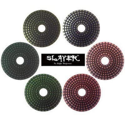 "100 Grit Slayer 4/"" Wet Premium Polishing Pads"