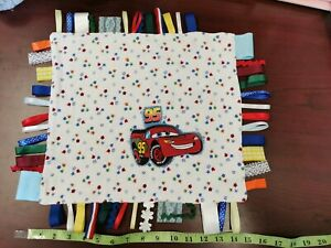 Taggies-Security-Theether-Soft-Blanket-Handsew-Doudou-Avec-Rubans-Pour-Bebe