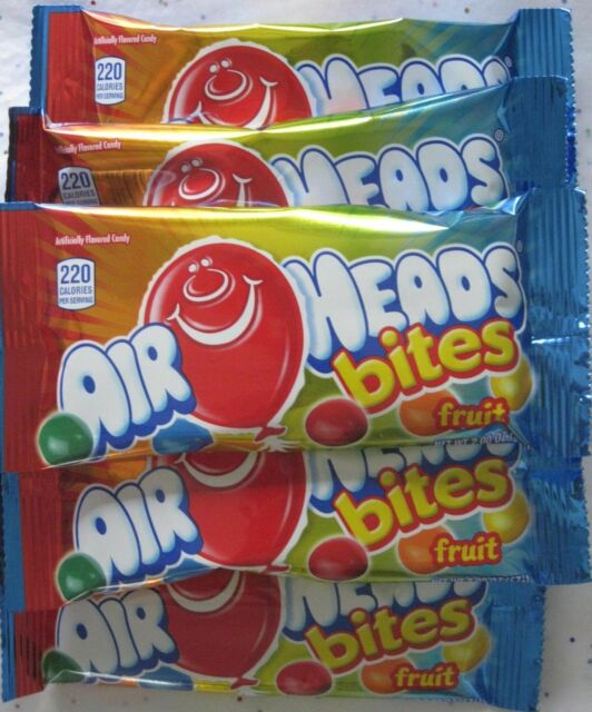 Airheads Bites ~ Fruit Chewy Air Heads ~ Candy ~ 2oz Bags ~ Lot of 6 Sweets