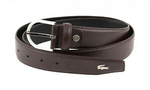 LACOSTE-Ceinture-Curved-Stitched-Edges-Belt-W95-Brown