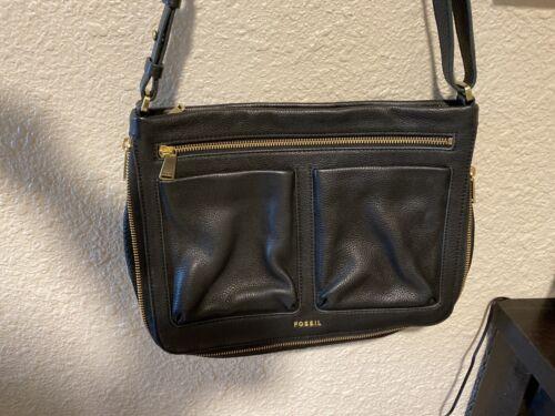 fossil handbags leather