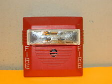 COOPER WHEELOCK NS-24MCW FIRE ALARM STROBE HORN 24 VDC WALL RED 15/30/75/110cd
