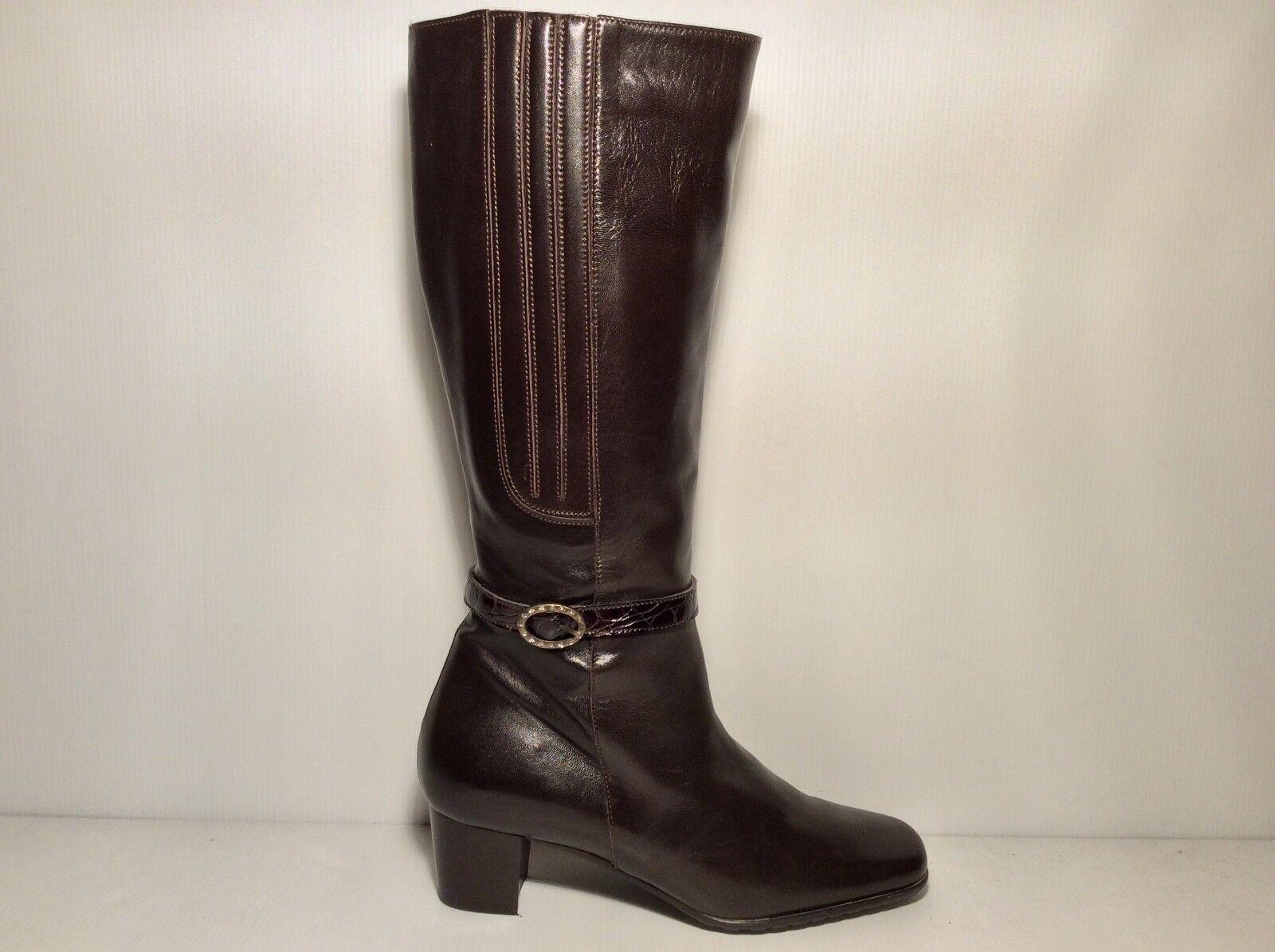 Grandes zapatos con descuento CONFORT 7664 col T.MORO pelle Elegante fodera  Pelliccia Stivale Donna Invernale