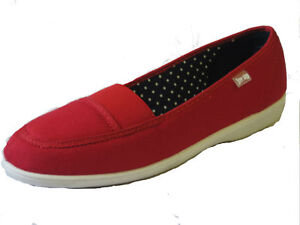 Free-Step-Ladies-Red-Canvas-Shoe-PATCH-UK-Sizes-4-to-8-R2A